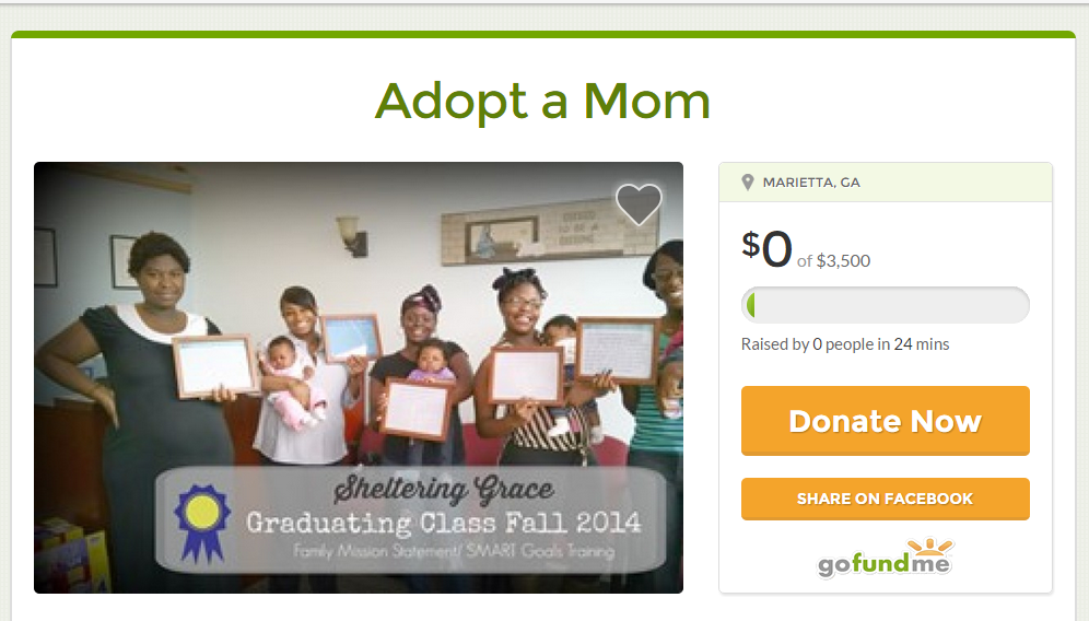 Adopt-a-Mom Caryn Lyng Scholarship on GoFundMe