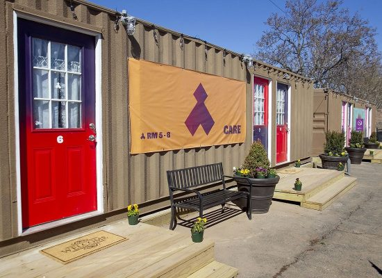 Newark Homeless Shelter Made from Converted Shipping Containers
